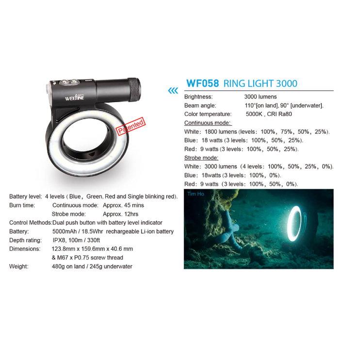 WeeFine Ring Light 3000