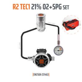 10005-6 - Regulator R2 TEC1 21% O2 G5/8 with SPG, Stage Set - EN250A