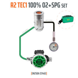 10005-72 - Regulator R2 TEC1 100% O2 M26x2 with SPG, Stage Set - EN250A