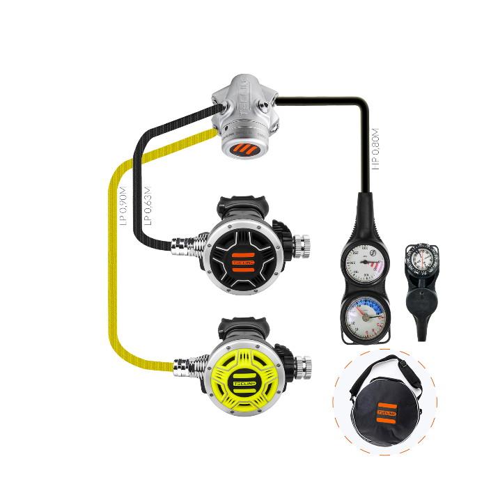 Regulator V 2 Ice Mono Set III (Reg + Octo + SPG + Depth + Compass)