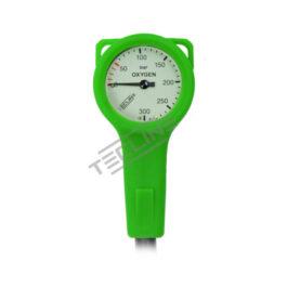 SPG S-Tech O2 300 Bar Green cover Hose 15cm