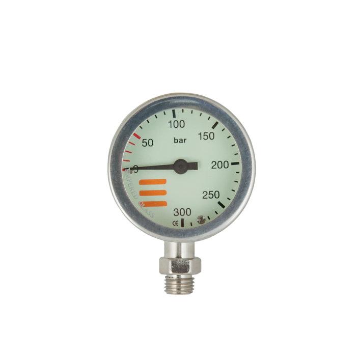 Manometer S-Tech 300 Bar 52mm Nickel - Gauge Only