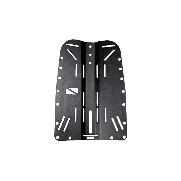 Backplate Alu (0,85kg) Oxidized - Black