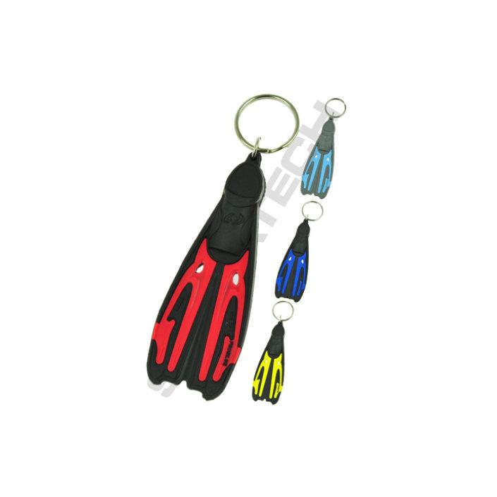 Key fob fin Tiara II red
