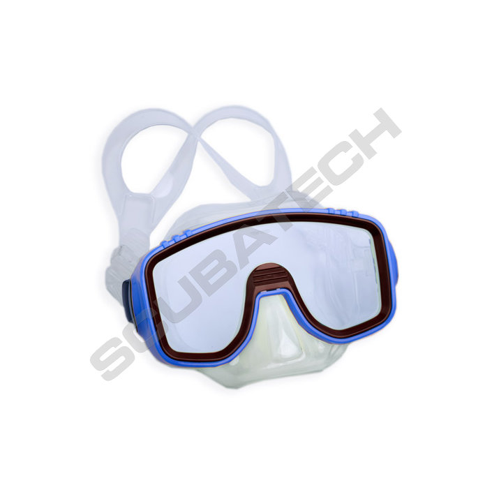 Mask Kids Panda - Clear Silicone Blue