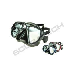 Mask Tiara II Anti-Fog Glass Black Silicone Black-Silver Frame