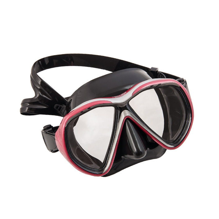 Mask Tiara II Asia Fit Black Silicone Metal Ruby Frame