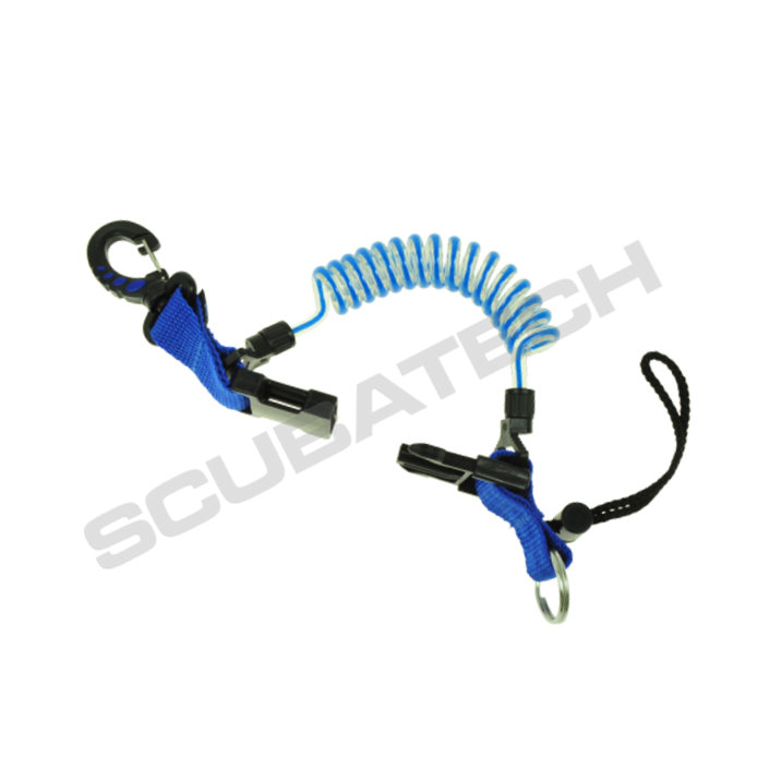 Retractor Spring + Plastic Snap-hook - Blue