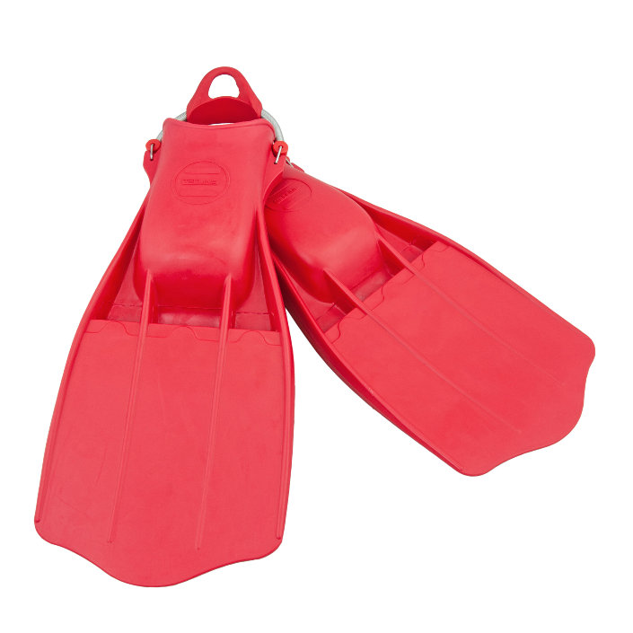 Rubber Fins Jetstream + SS Spring Straps - Red