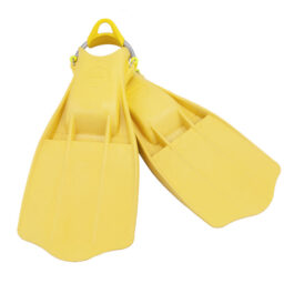 Rubber Fins Jetstream + SS Spring Straps - Yellow