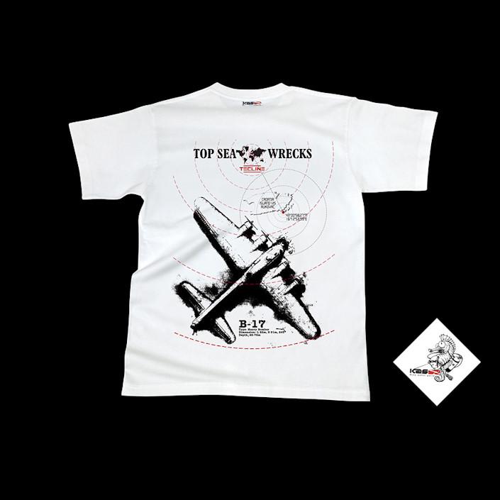 T04054-02 - T-Shirt Tecline B-17 - White