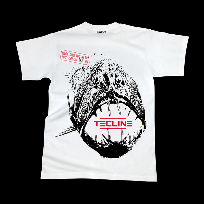 T-Shirt Tecline Fish White