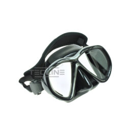 Tecline Tiara Mask + Neoprene Strap Black Silicon Black-Silver Frame
