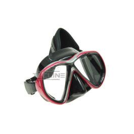 Tecline Tiara Mask + Neoprene Strap Black Silicone Red Frame