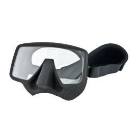 Tecline Frameless Classic Mat Mask + Neoprene Strap Black