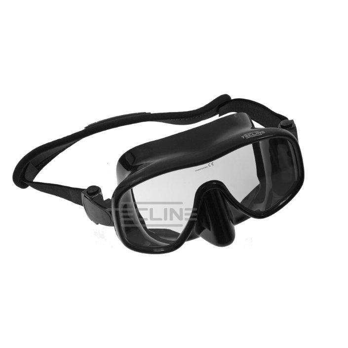 Tecline Frameless View Mask + Neoprene Strap Black