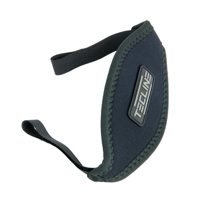 Neoprene Mask Strap With Velcro 16mm Wide - Tecline Logo