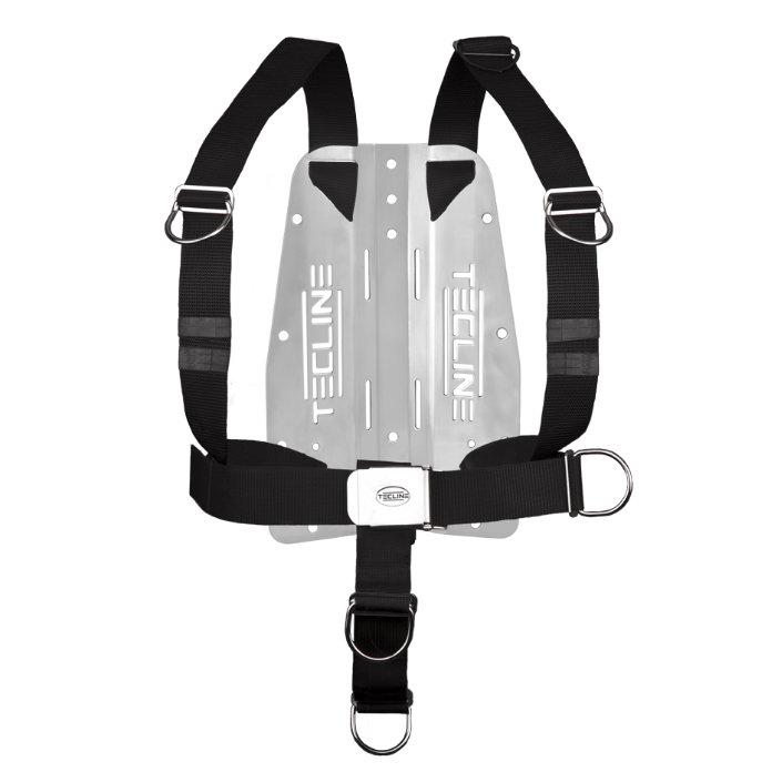 Harness Tecline Dir Standard Webbing + 3mm Stainless Steel Backplate - Fixed D-Rings