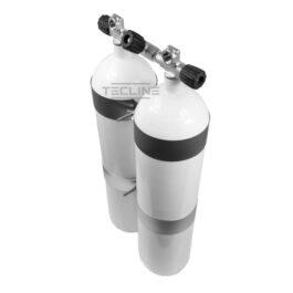 Double Tank 2 x 8,5L 140mm 232 Bar Flat Bottom Eurocylinder
