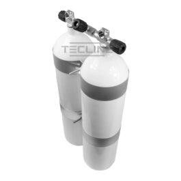 Double Tank 2 x 12L 171mm 232 Bar Flat Bottom Eurocylinder