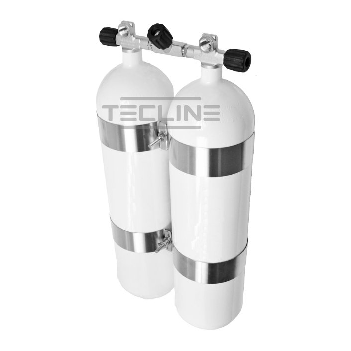 Double Tank 2 x 15L 203mm 232 Bar Eurocylinder