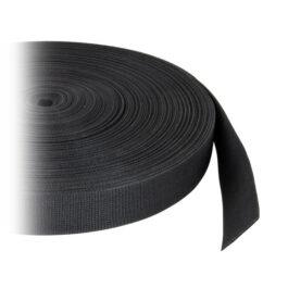 Webbing Belt Hard, 50mm 2,2mm - Black