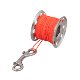Spool Stainless Steel Tec 45m + Stainless Steel 100mm Snap