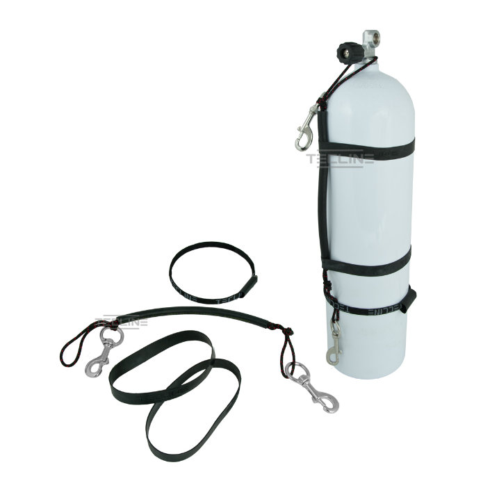 Stage Rigging Kit For 10/11,1l + 120mm SS Bolt Snap + Rubber Bands