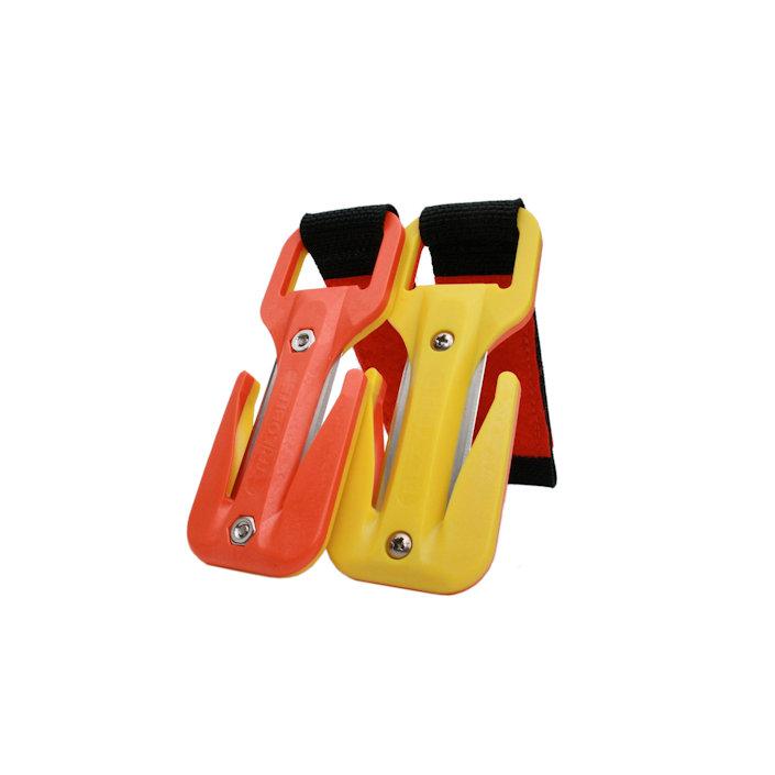 Eezycut Trilobite Yellow/Orange – Harness Pouch With Orange Velcro