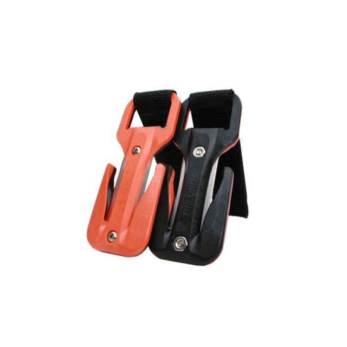 Eezycut Trilobite Orange/Black – Harness Pouch With Black Velcro
