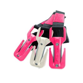 Eezycut Trilobite Pink/White - Harness Pouch With Pink Velcro