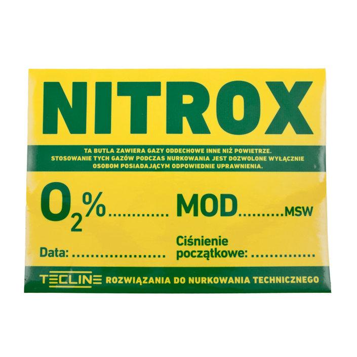 Sticker Nitrox 30 x 22,5cm (Polish Version)