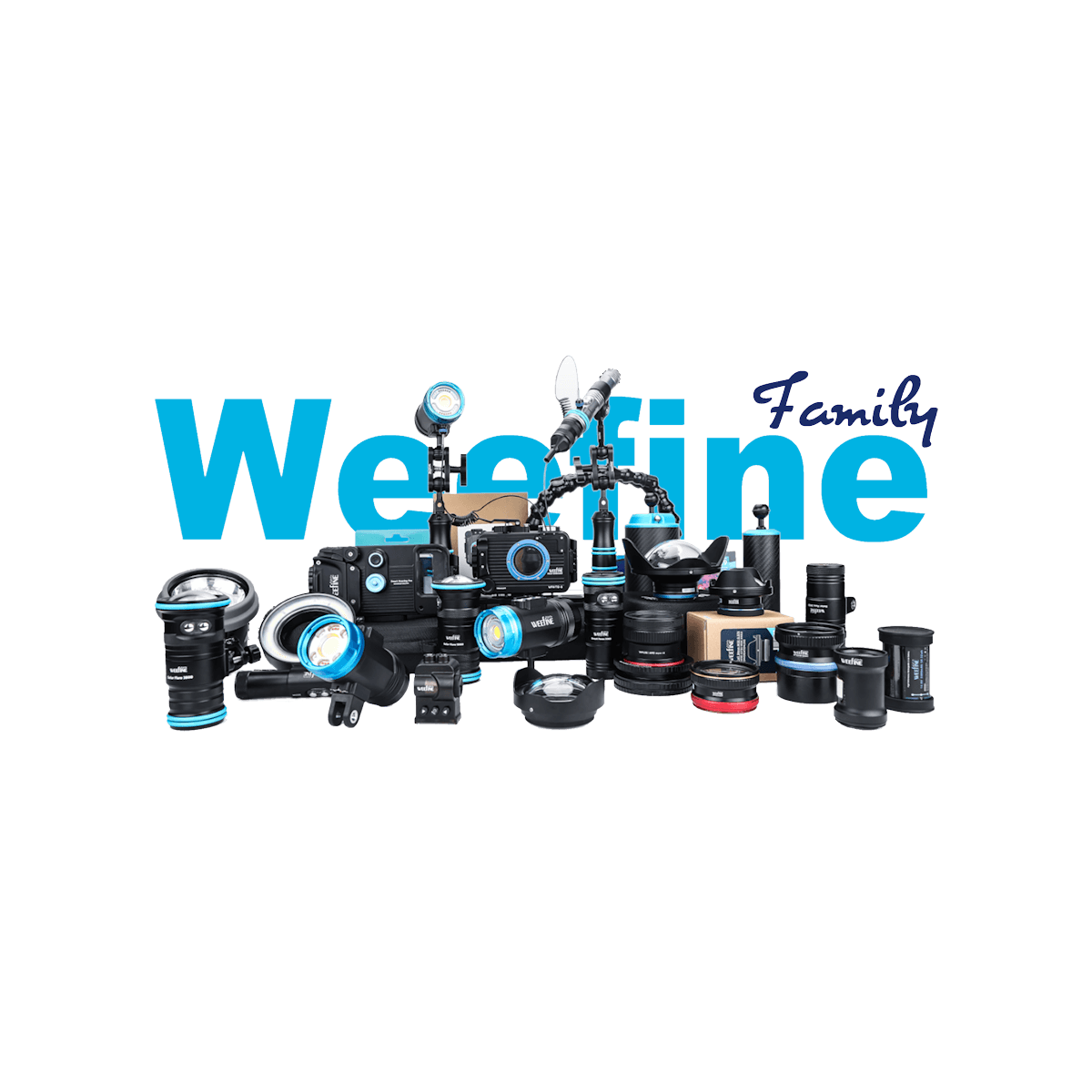 Weefine range of underwater camera equipment