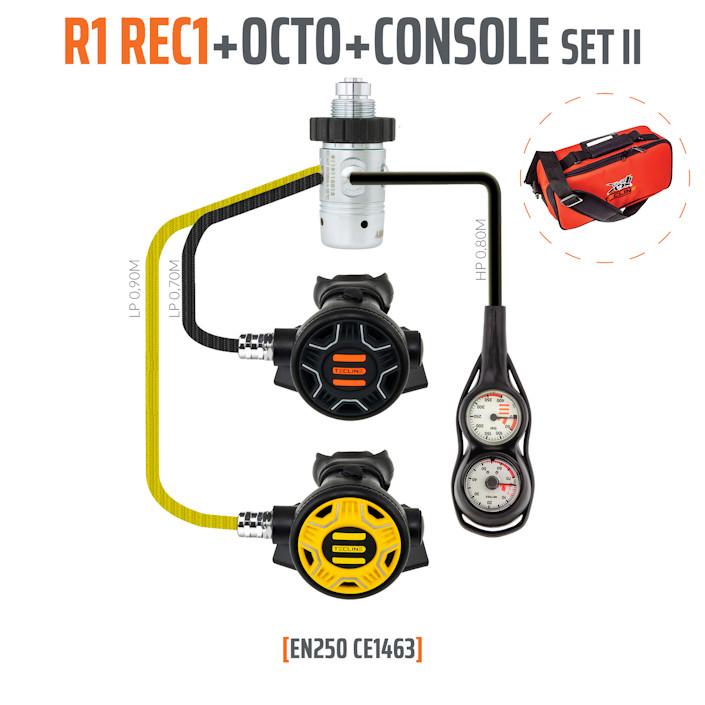 10001-53 - Regulator R1 REC1 Set II with Octo and 2 Elements Console - EN250