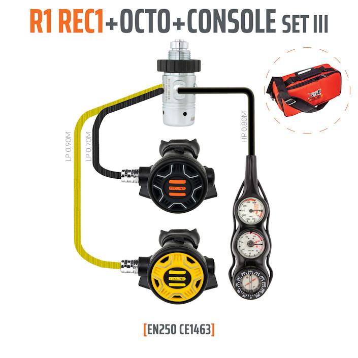 10001-54 - Regulator R1 REC1 Set III with Octo and 3 Elements Console - EN250