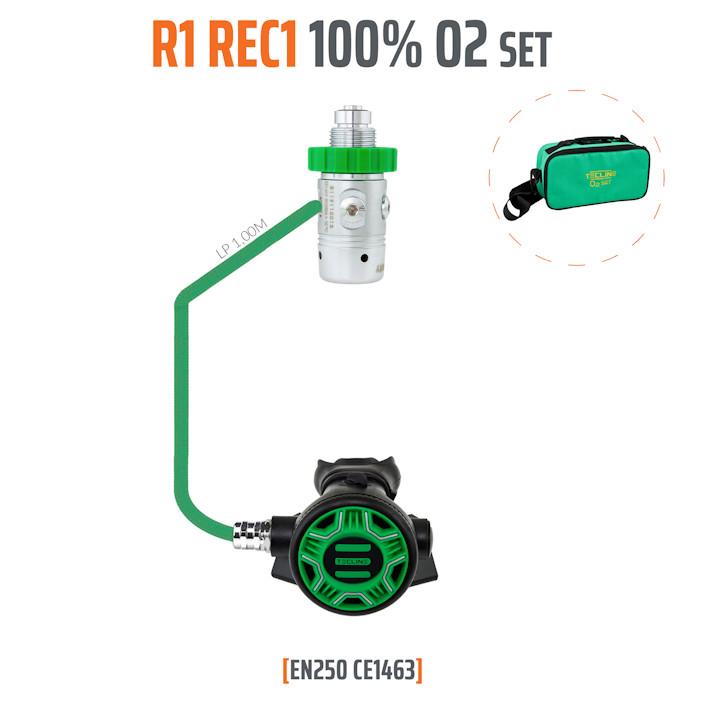 10001-62 - Regulator R1 REC1 100% O2 M26x2, Stage Set - EN250