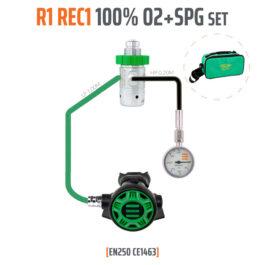 10001-65 - Regulator R1 REC1 100% O2 M26x2 with SPG, Stage Set - EN250
