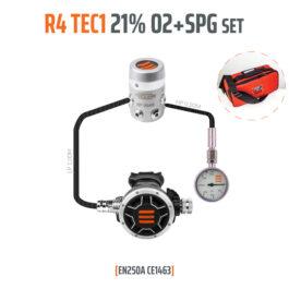 10003-93 - Regulator R4 TEC1 21% O2 G5/8 with SPG, Stage Set - EN250A