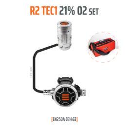 10005-00 - Regulator R2 TEC1 21% O2 G5/8, Stage Set - EN250A