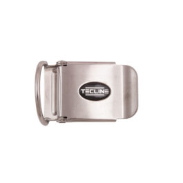 T01049 - Ss Belt Buckle 50 Mm With D-ring and Logo - Tecline