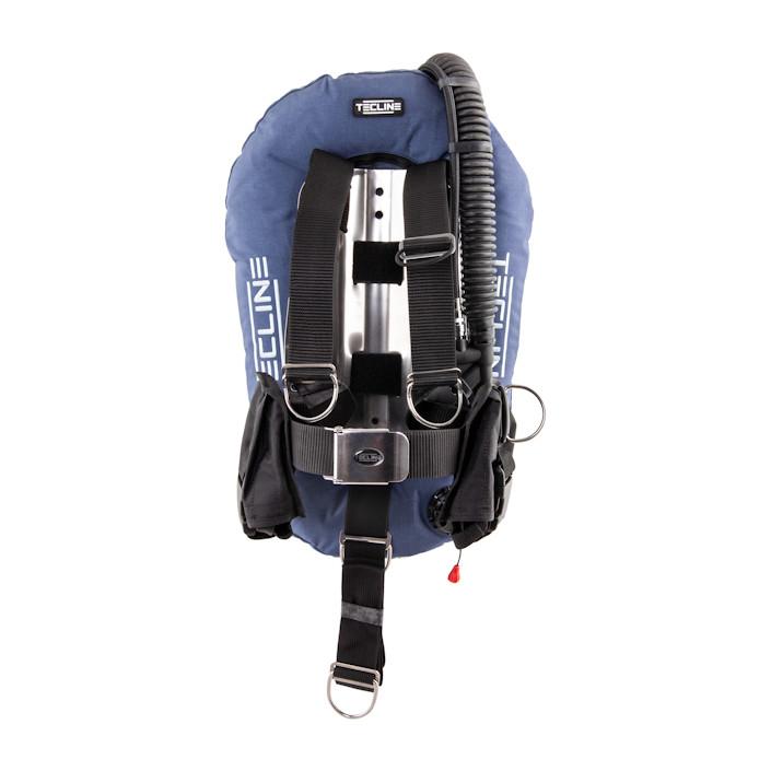 T10955 - Junior DIR Set I: Donut 10, adj. DIR harness, SS or ALU MIDI backplate, weight pockets, tank belts