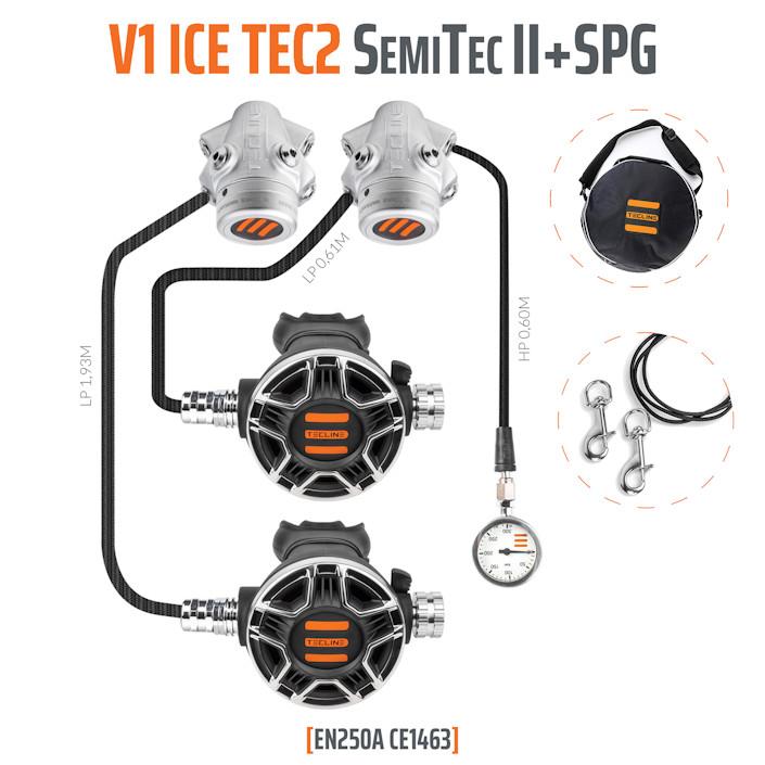 T15260 - Regulator V1 ICE TEC2 SemiTec II Set with SPG- EN250A