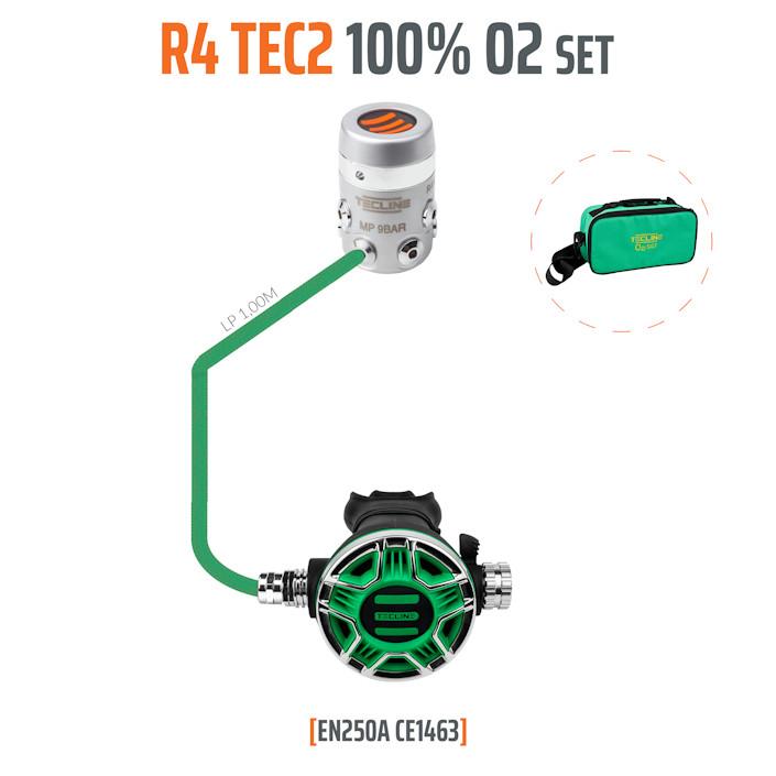 T15370 - Regulator R4 TEC2 100% O2 M26x2, Stage Set - EN250A