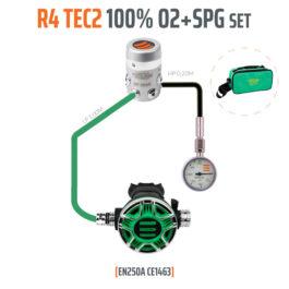 T15380 - Regulator R4 TEC2 100% O2 M26x2 with SPG, Stage Set - EN250A