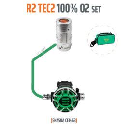 T15440 - Regulator R2 TEC2 100% O2 M26x2, Stage Set - EN250A