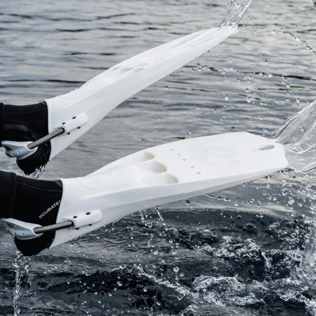 Tecline Lightjet Fins - White